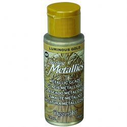 DecoArt Dazzling Metallic Glaze 2oz - Luminous Gold